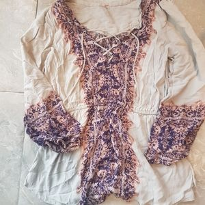 Free People Boho Blouse Top